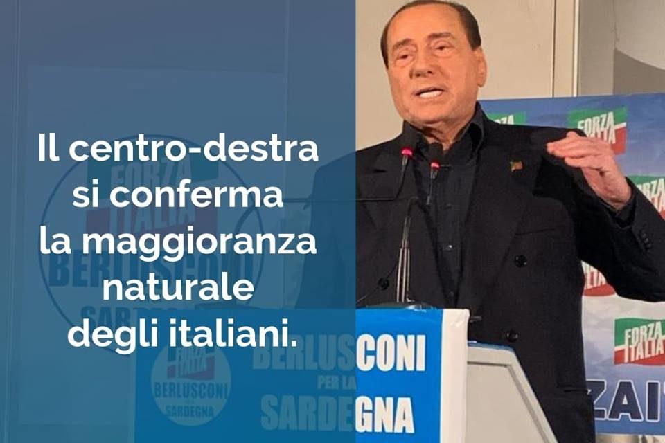 Berlusconi: il centrodestra si conferma maggioranza degli italiani