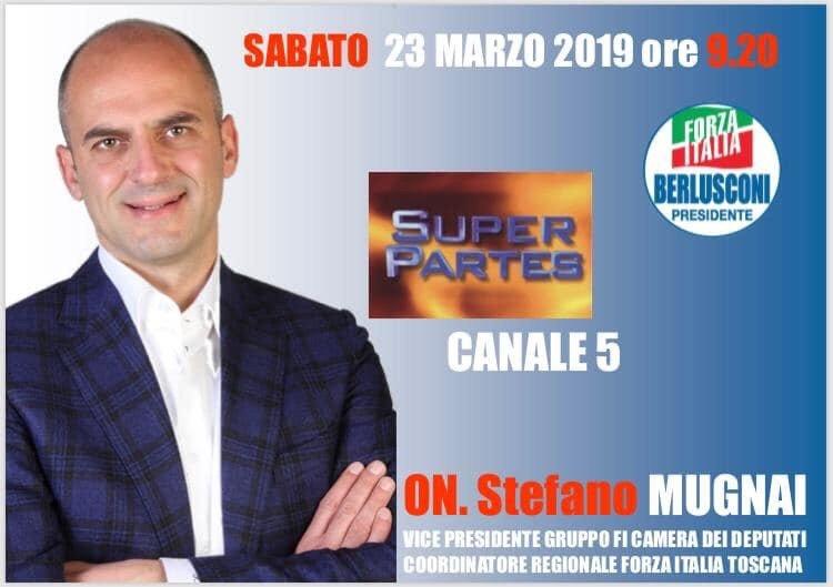 Questa mattina il nostro deputato Stefano Mugnai ha partecipato a Super Partes su Canale 5: se ve lo foste perso o lo voleste rivedere vi riproponiamo il video integrale