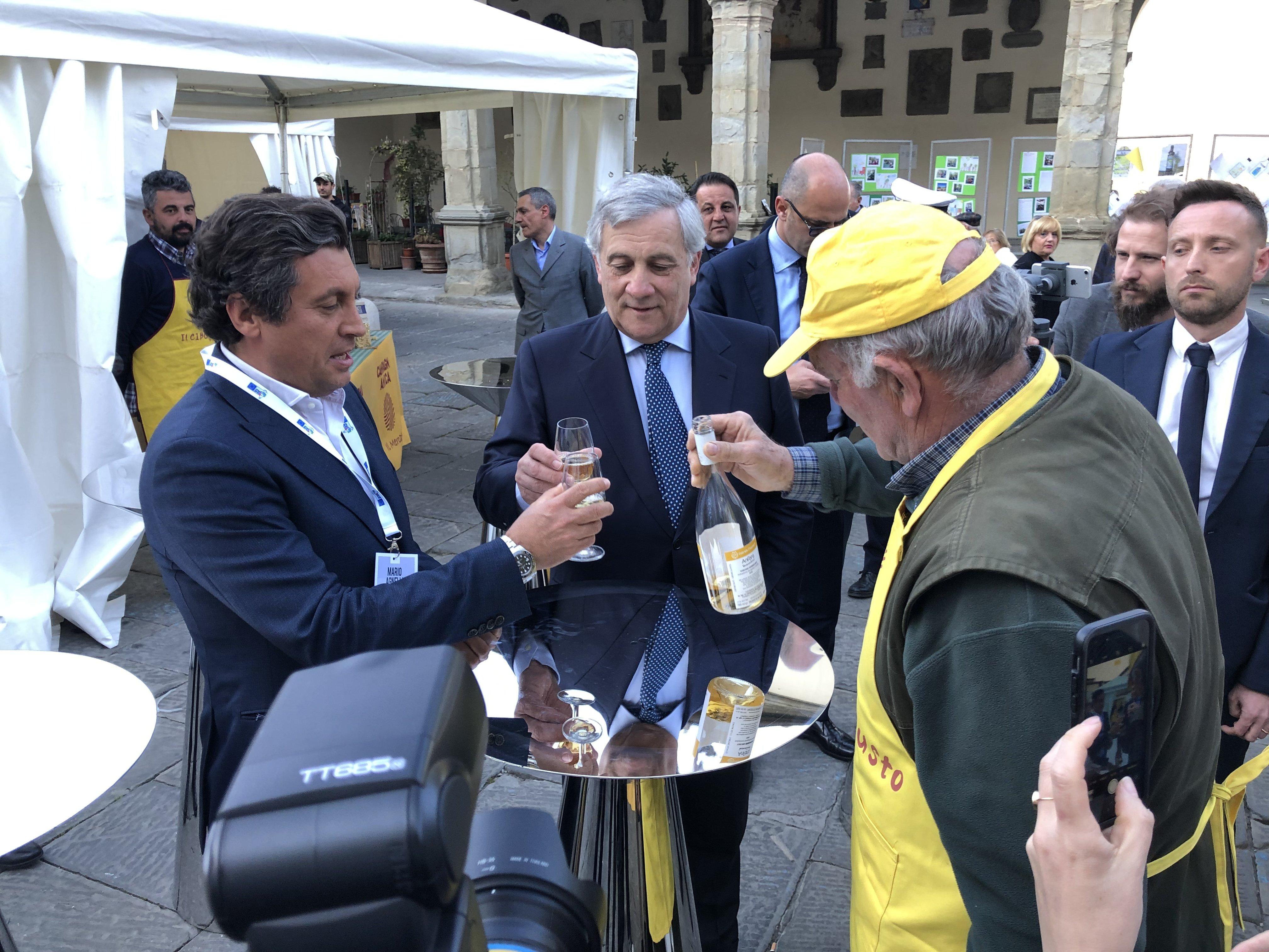 Tajani al girolio d'Italia a Castiglion Fiorentino 15