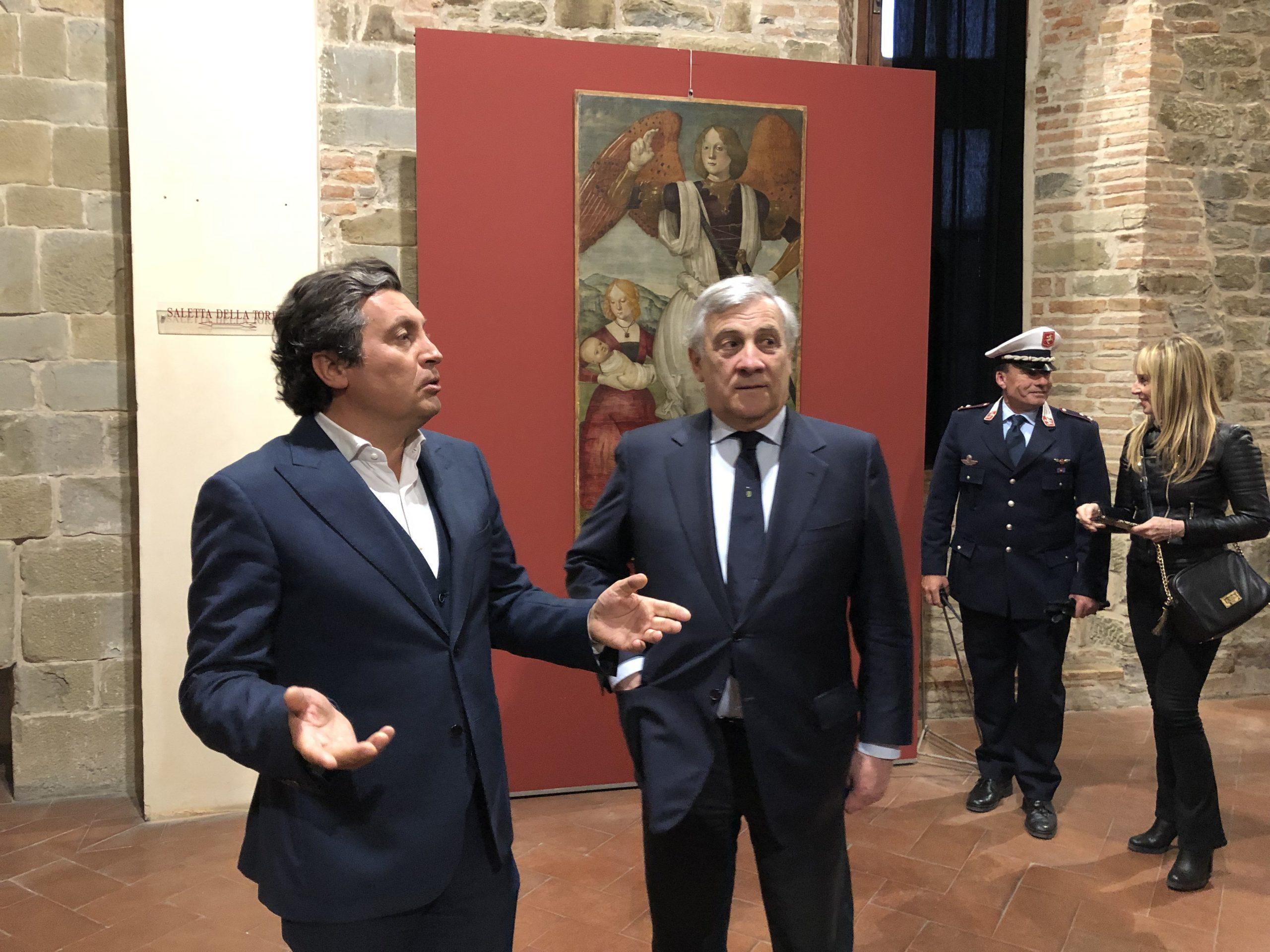 Tajani al girolio d'Italia a Castiglion Fiorentino