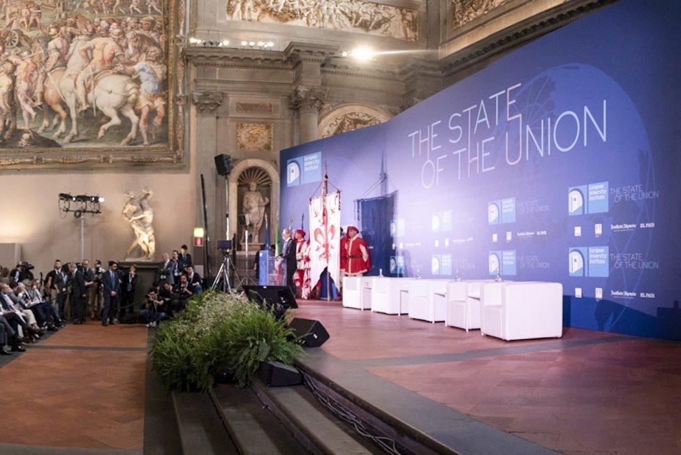 Antonio Tajani e Raffaella Bonsangue allo State of The Union a Firenze