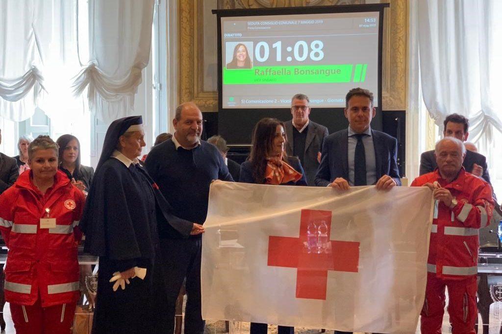 Incontro di Raffaella Bonsangue con la Croce Rossa Italiana