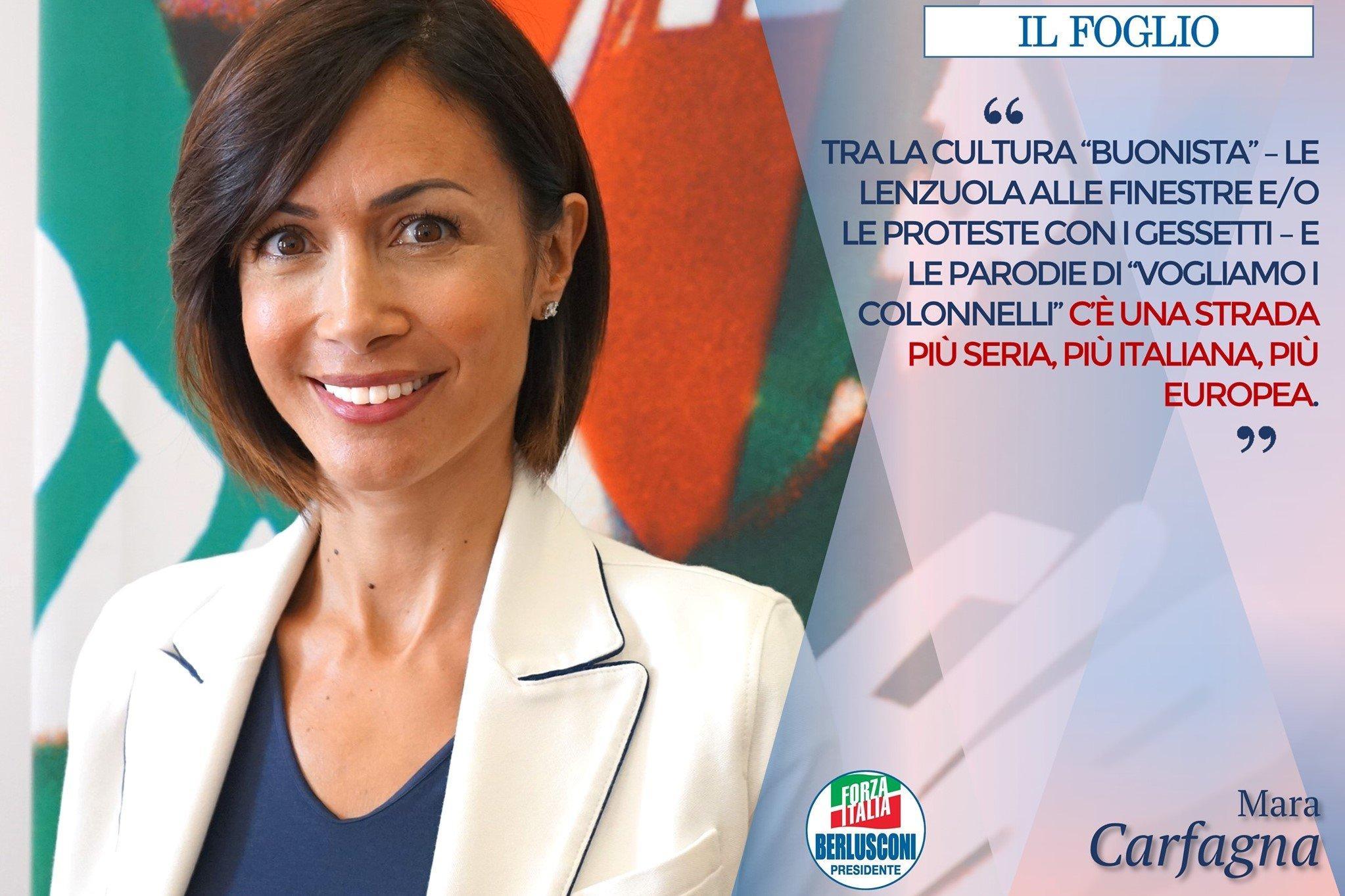 Mara Carfagna: Centrodestra non sia schiacciato su Salvini