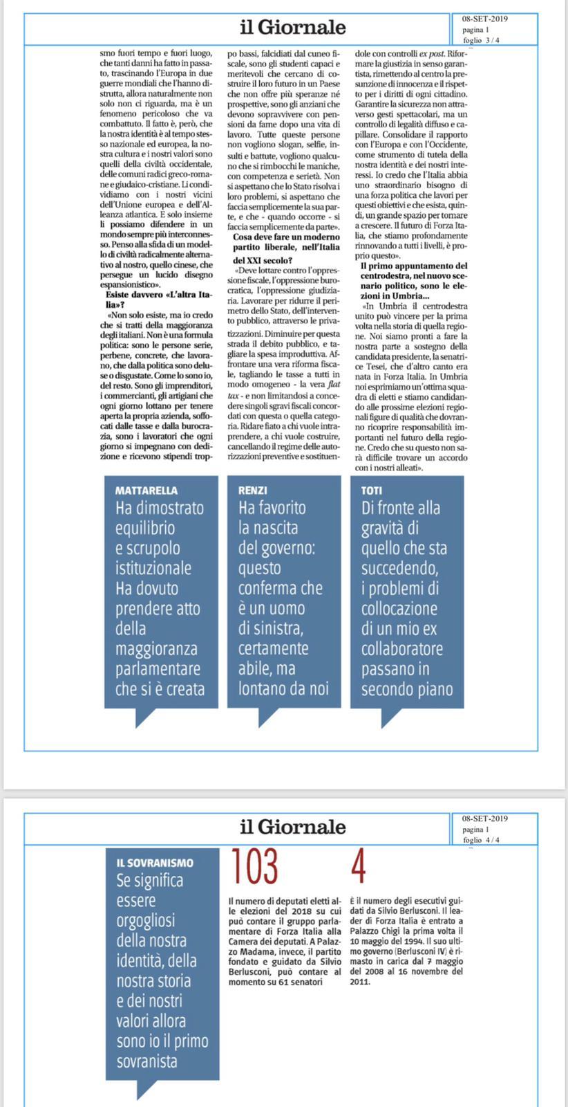 Berlusconi illustra la linea di Forza Italia al Giornale 6