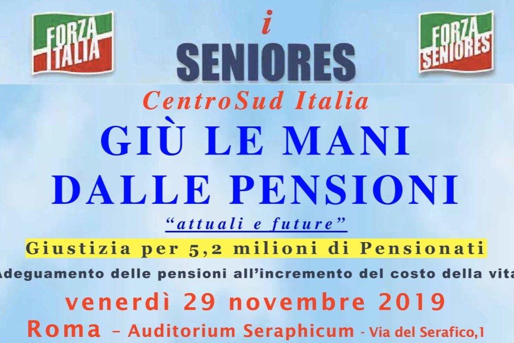 """Seniores: Conferenza """"Giù le mani dalle pensioni"""" a Roma il 29 novembre"""