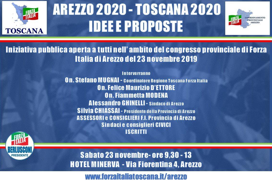 Incontro aperto di Forza Italia Arezzo il 23 novembre