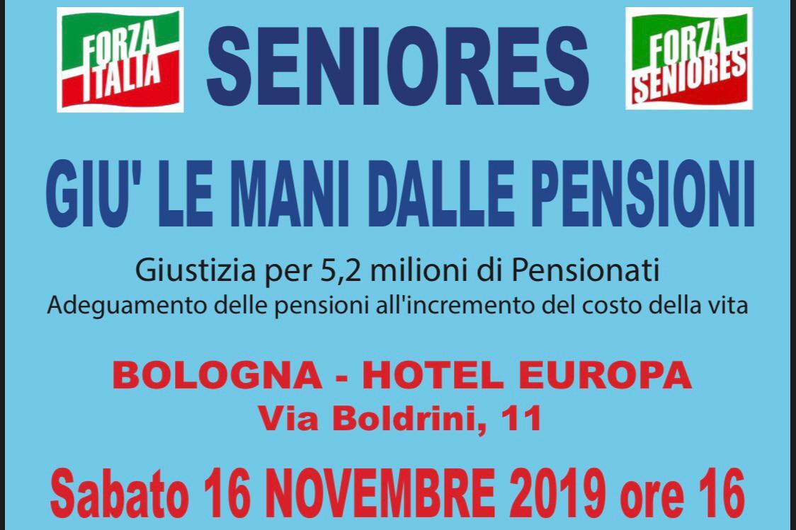 """Seniores: Conferenza """"Giù le mani dalle pensioni"""" a Bologna il 16 novembre"""