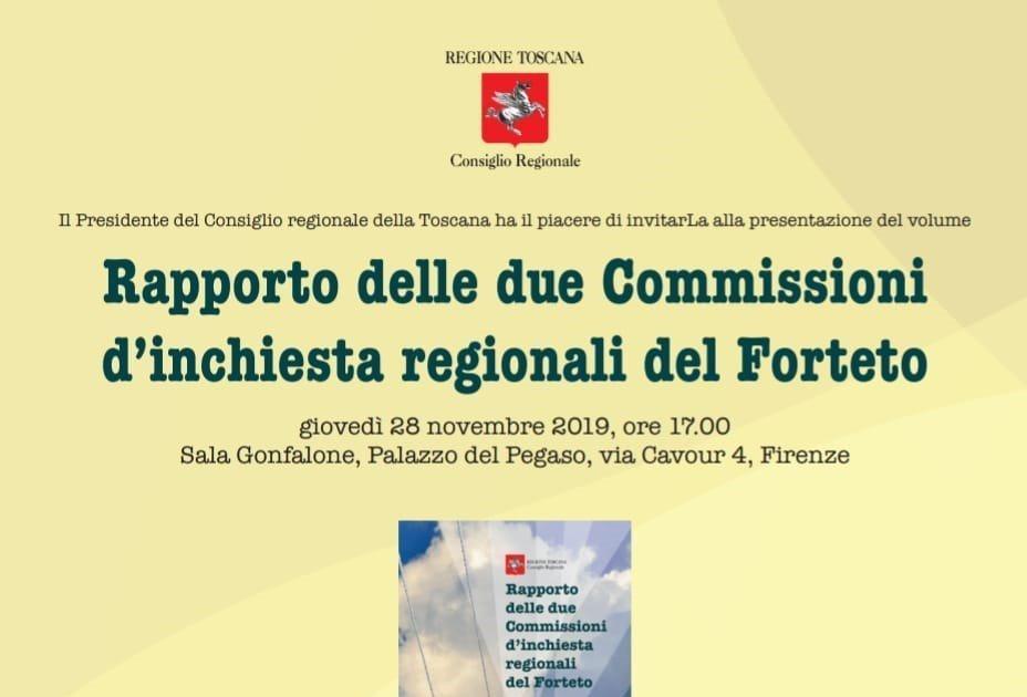 Presentazione del rapporto delle commissioni d'inchiesta sul Forteto