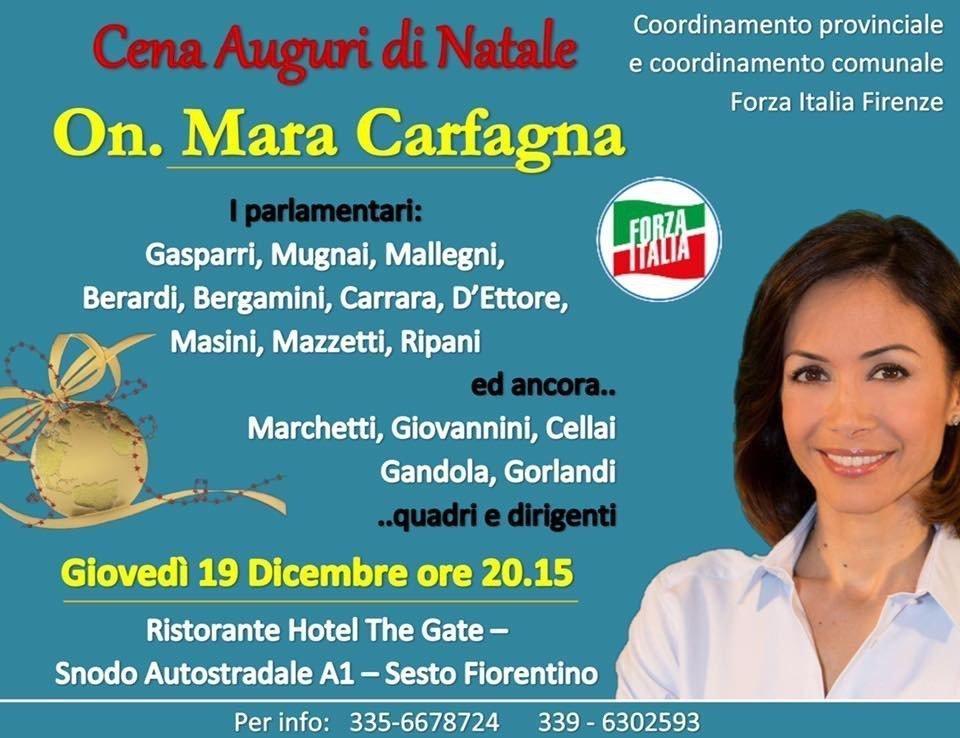 Cena di Natale Forza Italia Firenze