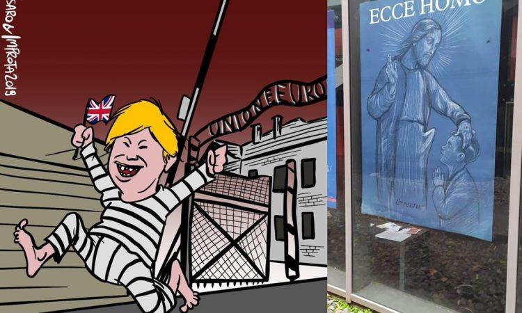 Edoardo Fabbri Nitti: Libertà di espressione o di insulto? Ieri mi sono imbattuto in due immagini rivoltanti, una con Boris Johnson che scappa da una Auschwitz con l