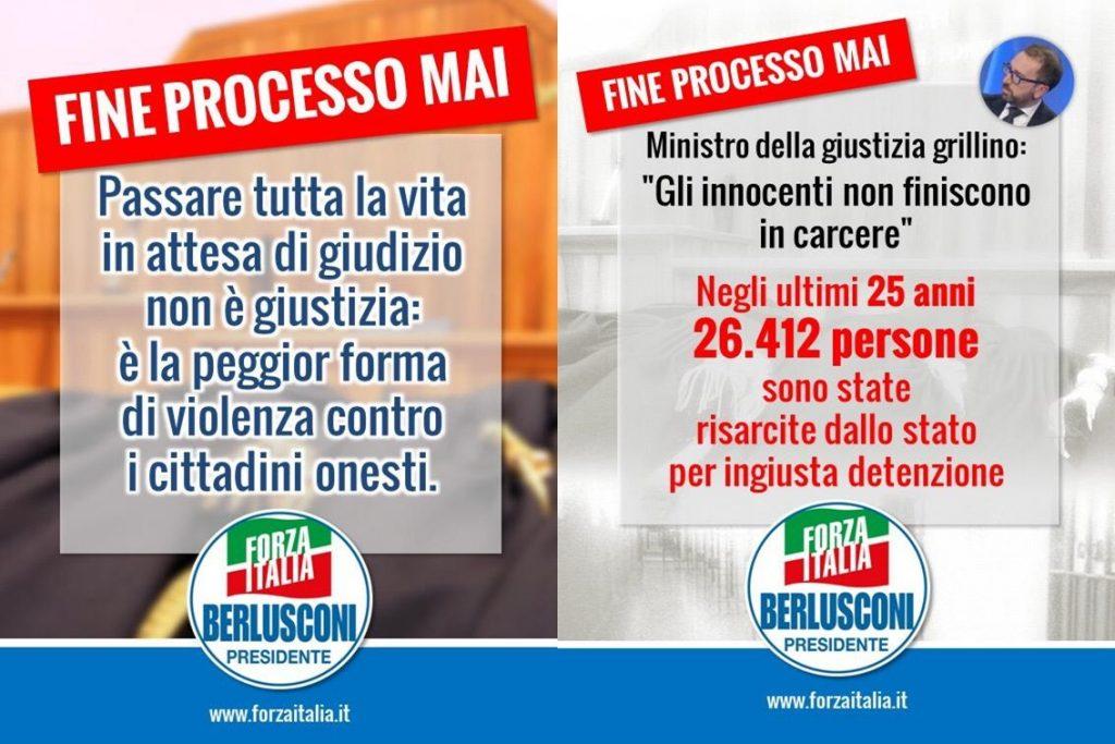 Forza Italia si mobilita contro la riforma della prescrizione