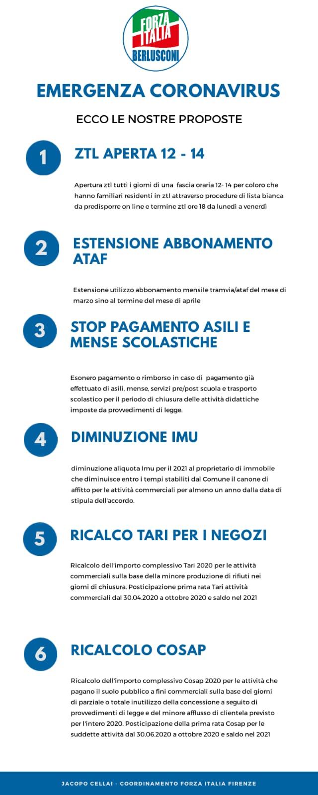 6 proposte Forza Italia Firenze