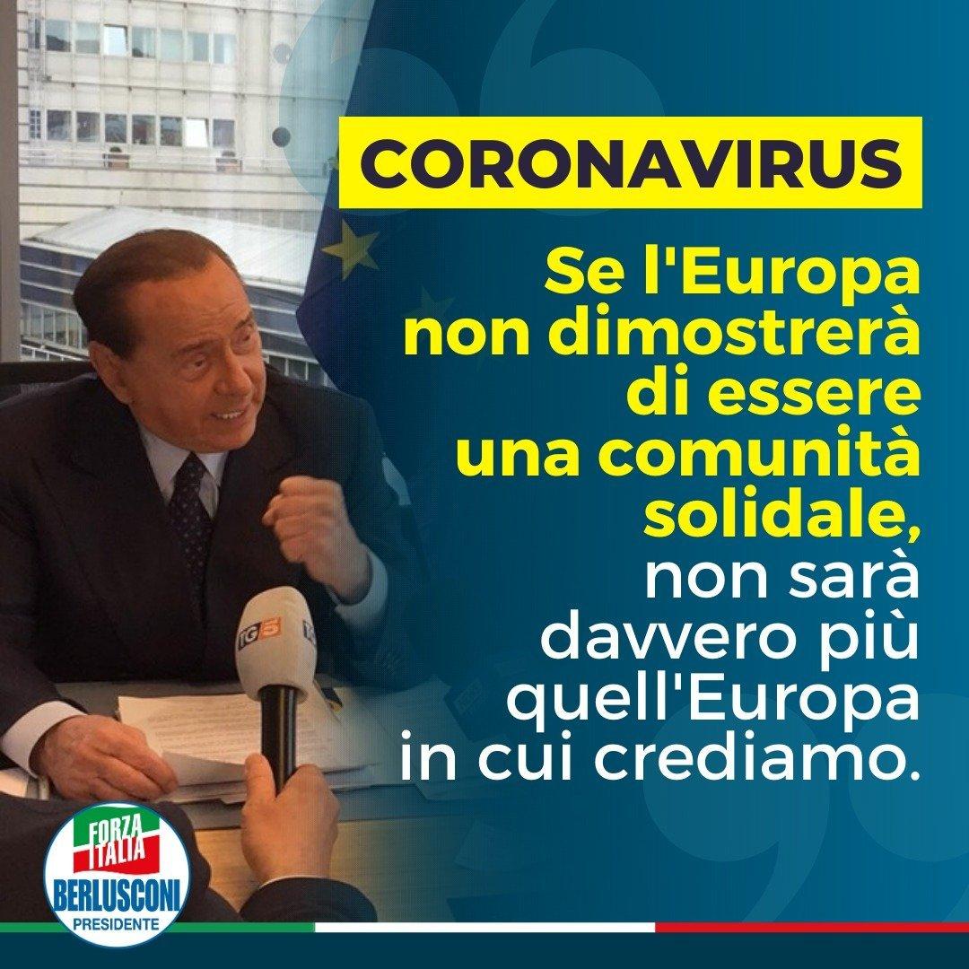 Berlusconi coronavirus europa