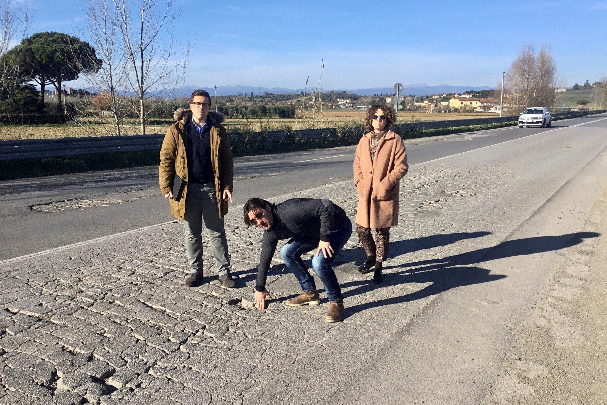 Fucecchio: SR 436, variante San Pierino, situazione inaccettabile