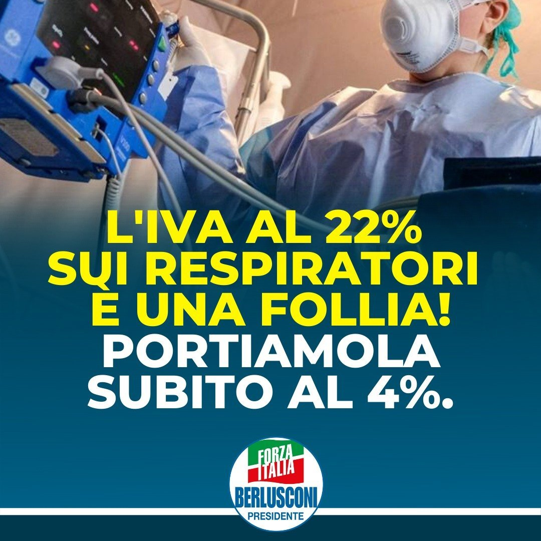 iva sui respiratori polmonari