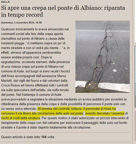 Massa Carrara: Ponte di Albiano, chiediamo chiarezza 4