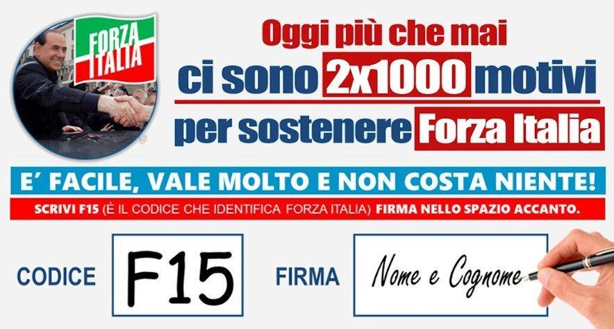 2x1000 forza italia