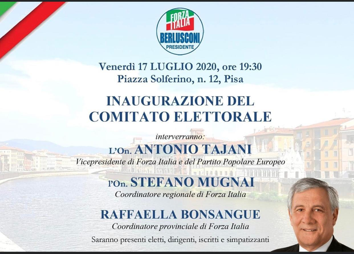 Regionali 2020, Antonio Tajani venerdì in Toscana 2