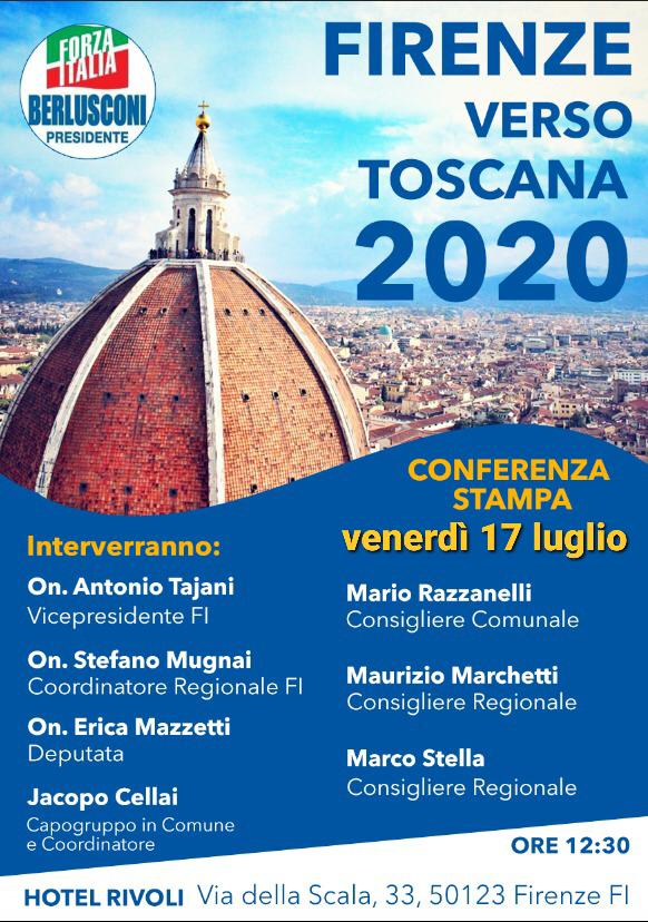 Tajani tour in Toscana