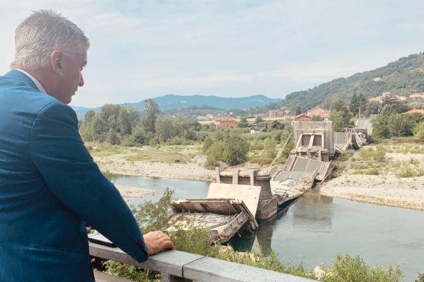 Mallegni, sopralluogo sul ponte di Albiano Magra