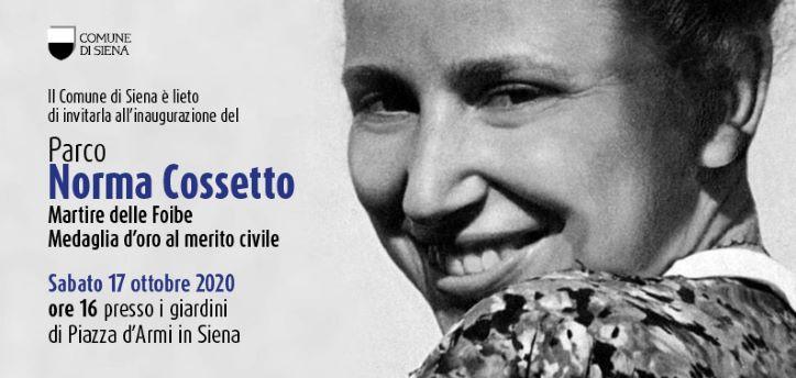 Siena invito Parco Norma Cossetto