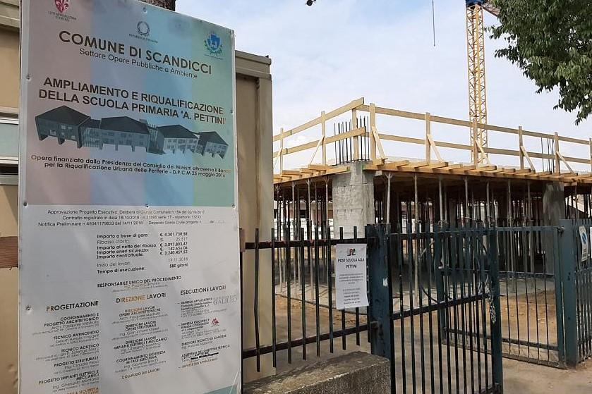 Pieve di Settimo: Ritardi nei lavori alla scuola Pettini