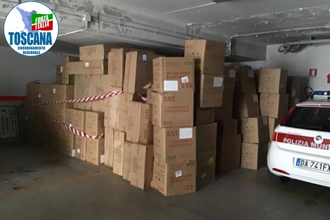 Campi: Migliaia di mascherine nel Garage della Municipale