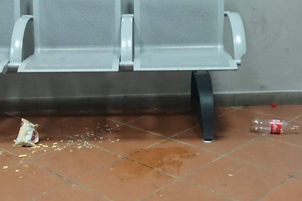 Dicomano: La stazione è diventata un bivacco