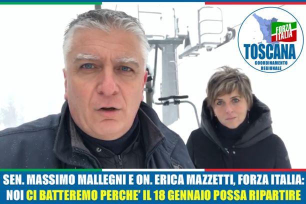 Impianti sciistici, situazione tragica, aprire il 18 gennaio