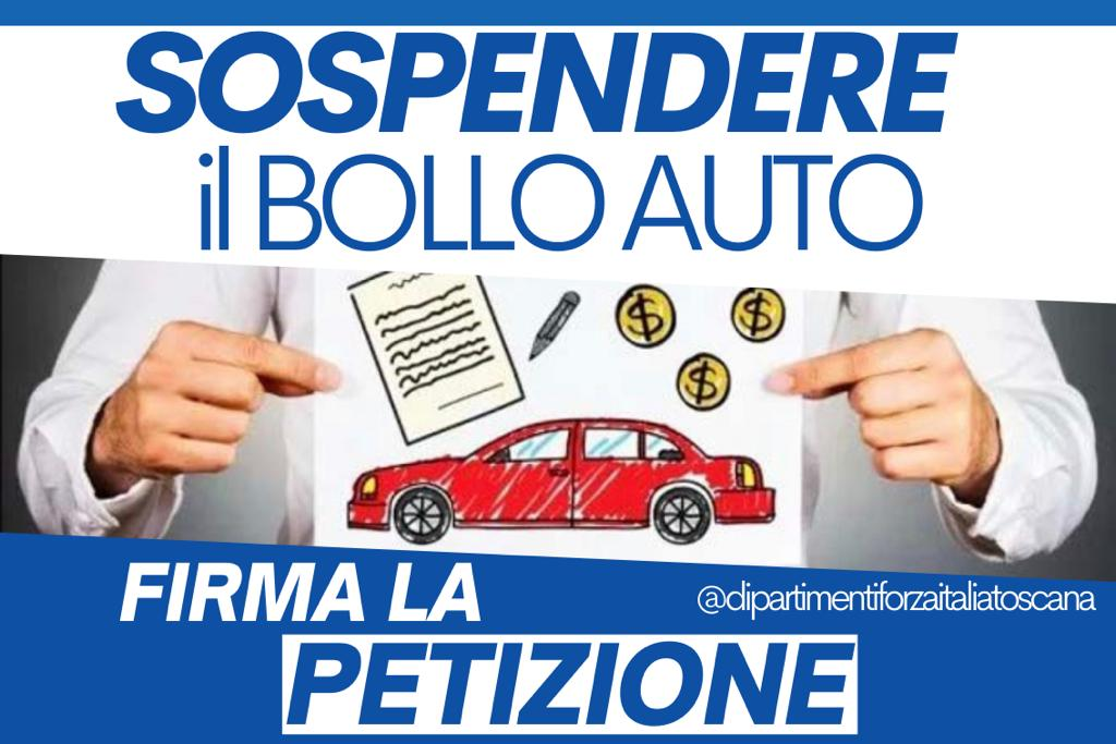 Sospensione bollo auto in Toscana: via alla petizione