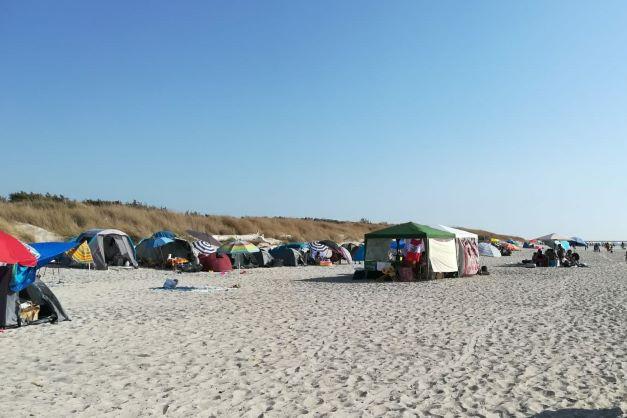 Rosignano, Spiagge bianche: accampamenti e illegalità